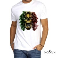 Мъжка соларна тениска Череп Раста