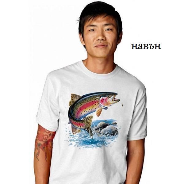 Мъжка соларна тениска Пъстърва