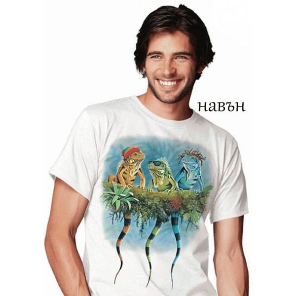 Мъжка соларна тениска Реге игуани