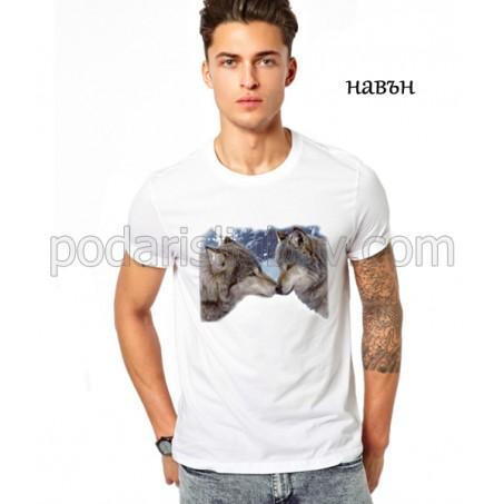 Мъжка соларна тениска Вълци