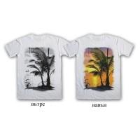 """Мъжка соларна тениска """"Залез"""""""