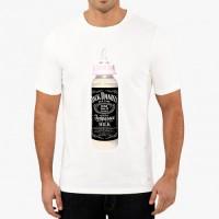 """Мъжка тениска """"Мляко - Джак Даниелс"""""""