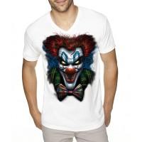 """Мъжка тениска """"Психо клоун"""", голяма щампа"""