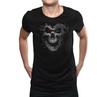 """Мъжка неонова тениска """"Cyborg Skull"""""""