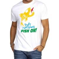 """Мъжка тениска """"FISH ON!"""""""