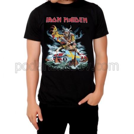 Мъжка тениска Iron Maiden в черен цвят