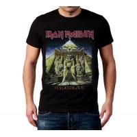 Мъжка черна тениска Iron Maiden Powerslave