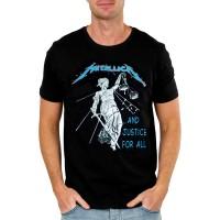 Мъжка тениска Metallica And justice for all, черна