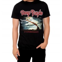 Тениска Deep purple Stormbringer, черна