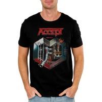 Тениска Accept Metal heart, черна