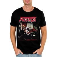 Тениска Accept Russian roulette, черен цвят