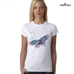 """Дамска соларна тениска """"Голяма пеперуда"""""""