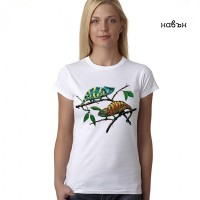 Дамска соларна тениска Хамелеони