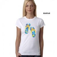 """Дамска соларна тениска """"Джапанки"""""""