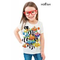 Детска соларна тениска цветни Риби