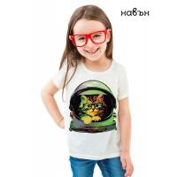 Детска соларна тениска Коте космонавт