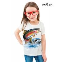 Детска соларна тениска Пъстърва