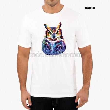 """Мъжка соларна тениска """"Бухал"""""""