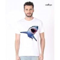 Мъжка соларна тениска Акула