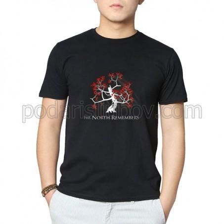 Черна тениска с печат на Ваш надпис