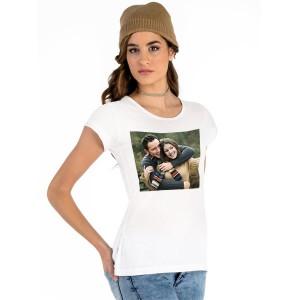 Бяла тениска с печат на Ваша снимка/текст