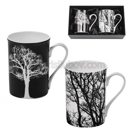 Ден и нощ. Комплект чаши за кафе и чай в картонена кутийка.