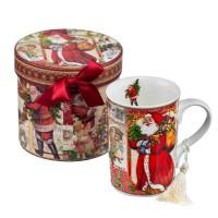 Коледна чаша с дядо Коледа, в кутия
