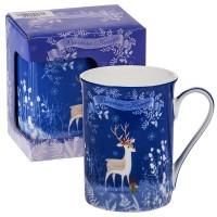 Коледна чаша с еленче, в кутия