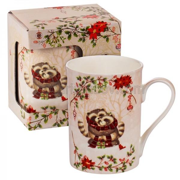Коледна чаша с еноти в кутия