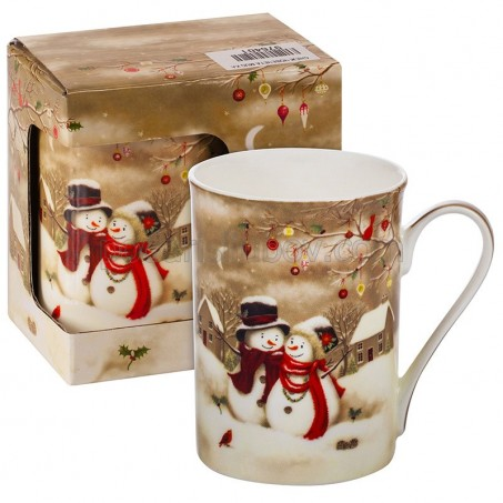 Коледна чаша Снежни човечета, в кутия