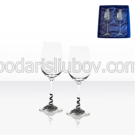 Комплект чаши за бяло вино, 2бр., в подаръчна кутия