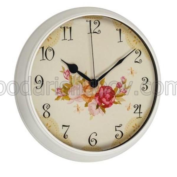Стенен часовник Цветя