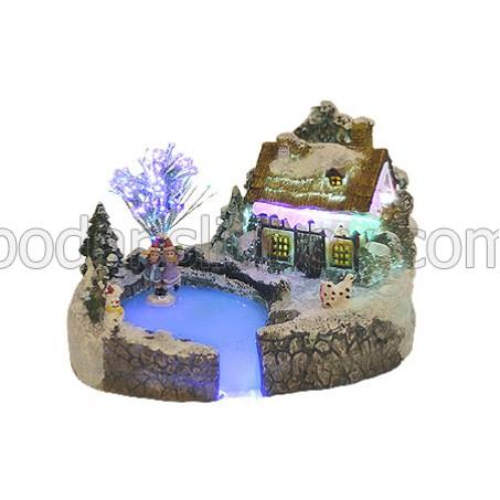 Коледна светеща къщичка