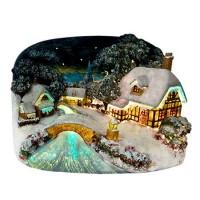 Коледна светеща къща