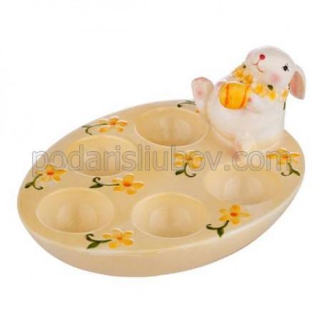 Великденска поставка за 5 яйца със зайче