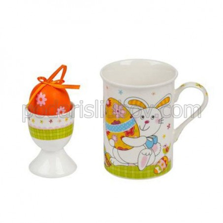 "Комплект чаша с поставка за яйце-""Зайче"""