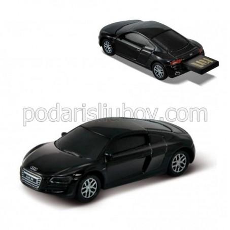 Флашка Audi R8 V10,8 GB, черен цвят