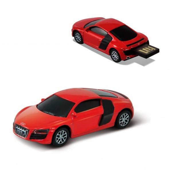 Флашка Audi R8 V10,8 GB, червен цвят