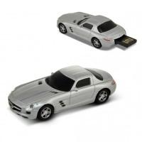 Флашка Mercedes Benz SLS AMG, 8 GB, сребрист цвят