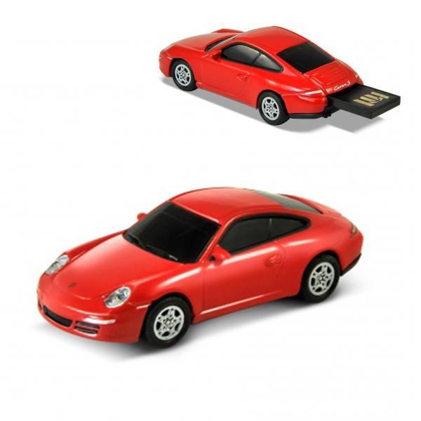 Флашка Porsche 911(917) Carerra S, 8 GB, червен цвят
