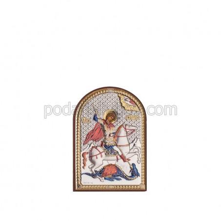 Икона - Свети Георги победоносец, 6х8.5см