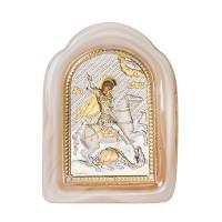 Икона Свети Георги, стъкло