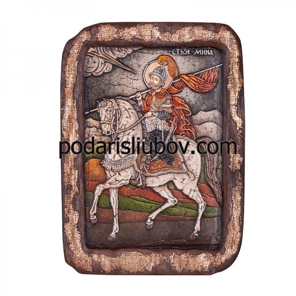 Икона - Свети Мина, 29x21см