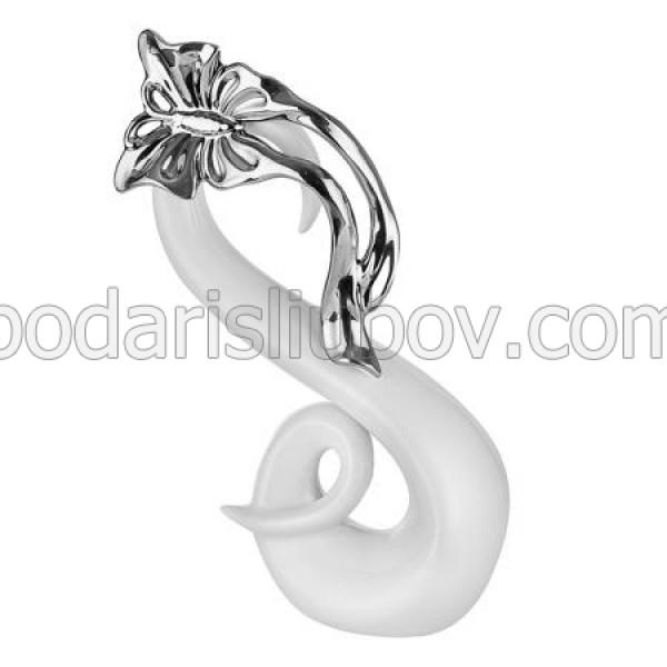 Керамична статуетка Лебед с пеперуда