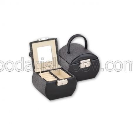 Кутия за бижута, черен цвят, 12*9*9 см
