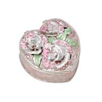 Кутия за бижута с рози, сърце, 6*7*3,6 см