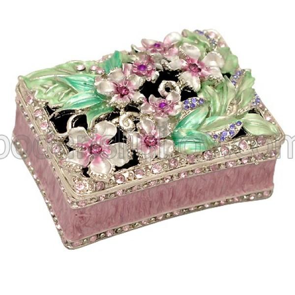 Кутия за бижута в пурпурен цвят, 7.5*5.5*3.5 см