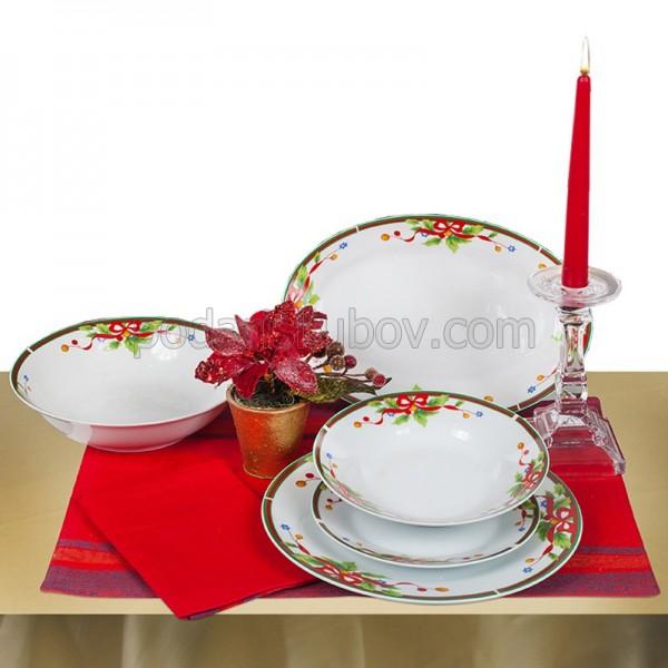 Коледен сет за хранене Red ribbon, 20 части