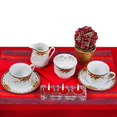 Коледен сет за кафе Red ribbon, 15 части