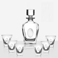Комплект за уиски с бутилка и 6бр. чаши, Fusion